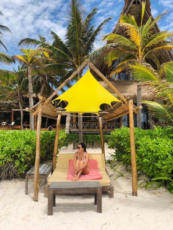 {Beach day at Hotel Ahau Tulum}