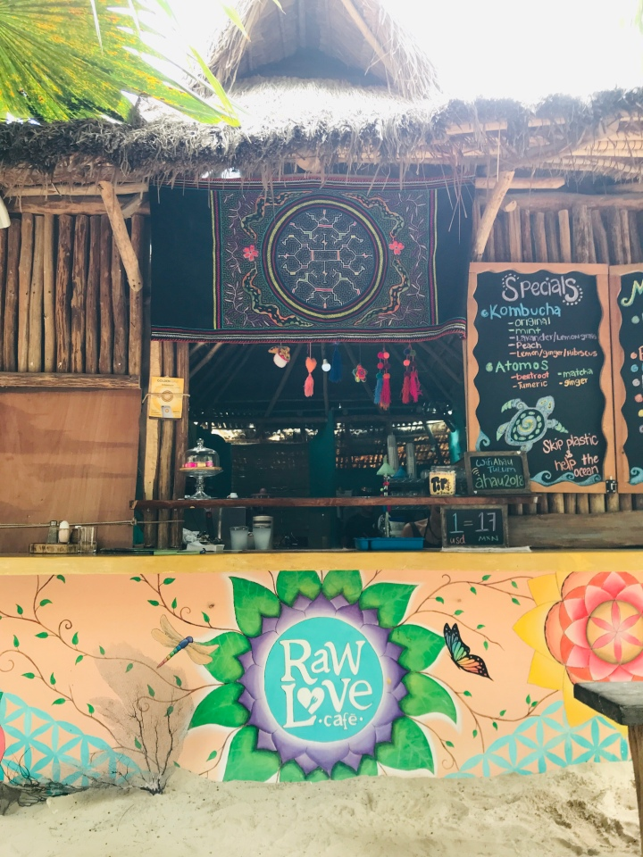 {Raw Love Cafe  for breakfast in Tulum}