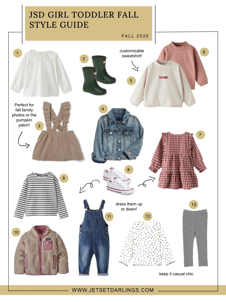 girl toddler fall style guide