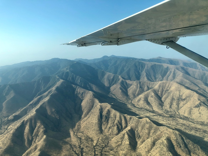 Aerial views of the serengeti