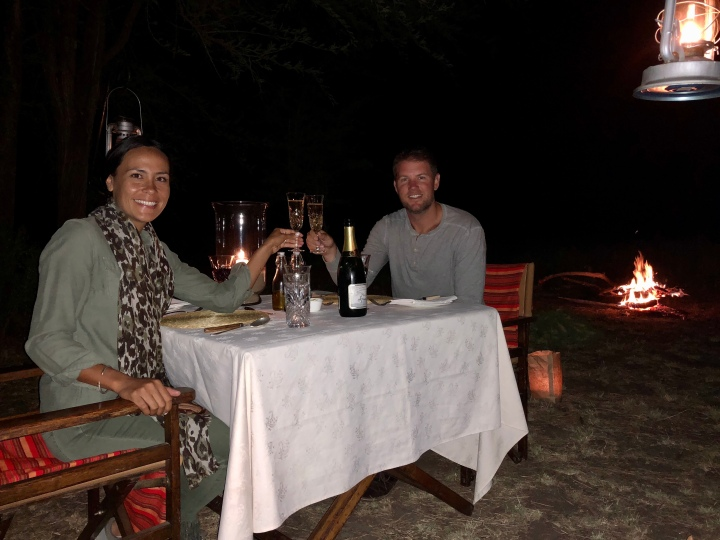 candle lit dinner at andbeyond serengeti