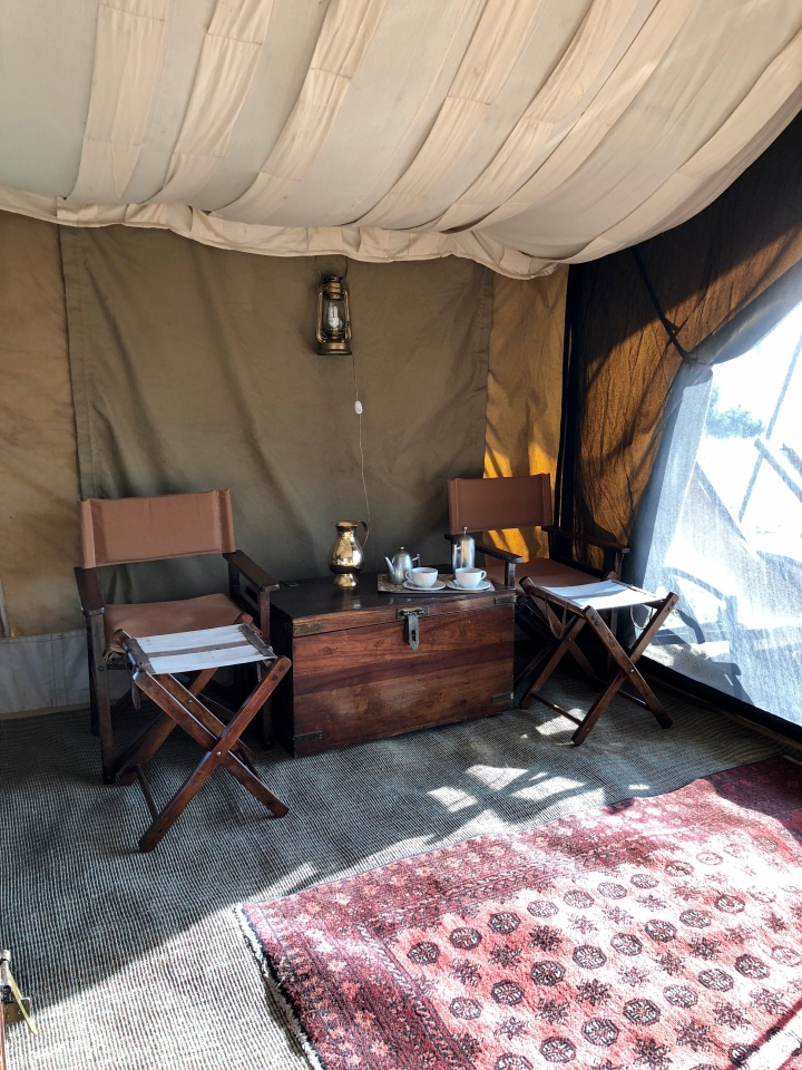 andBeyond under canvas tent